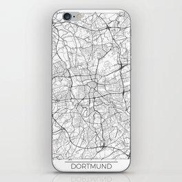 Dortmund Map White iPhone Skin