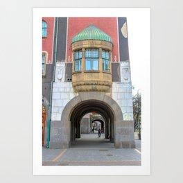 Subotica city hall detail #1 Art Print