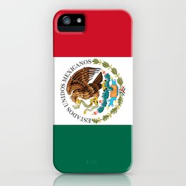 Flag of Mexico - alt version with seal insert iPhone Case