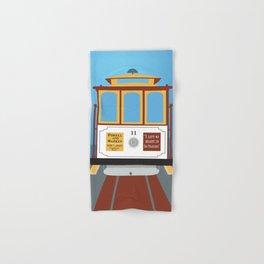San Francisco, California - Skyline Illustration by Loose Petals Hand & Bath Towel