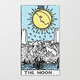 Modern Tarot 18 - The Moon Canvas Print