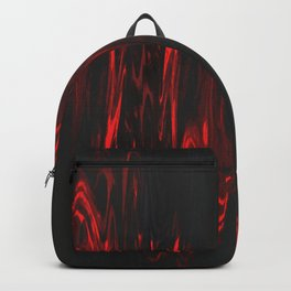 Red and Black Halloween Decor Fluid Abstract 47 Backpack
