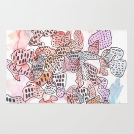 170323 Magical Unfolding 7 |Modern Watercolor Art | Abstract Watercolors Rug