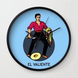 El Valiente Mexican Loteria Card  Wall Clock