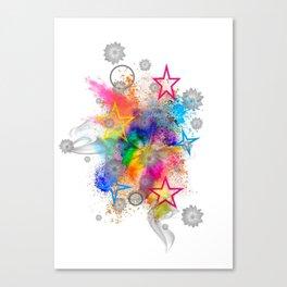 Color blobs by Nico Bielow Canvas Print