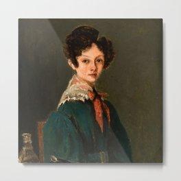 "Jean-Baptiste-Camille Corot ""Mme Lemaistre, née Blanche Sennegon, Niece of Corot"" Metal Print"