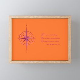 Rememberance, orange Framed Mini Art Print