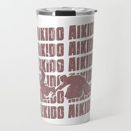 Aikido Repeat Combat Hakama Martial Arts Red Travel Mug