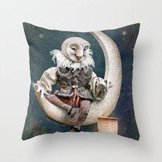 Rucus Studio Owl Poet Throw Pillow