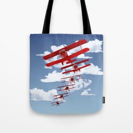 Retro Biplanes Tote Bag