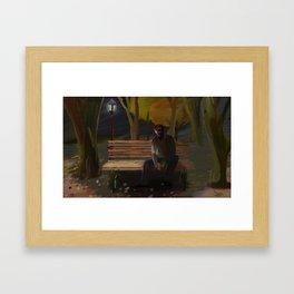 Zombie in the Park Framed Art Print