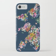world map floral iPhone 7 Slim Case