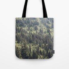 Mountain Trees Tote Bag