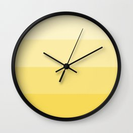 Four Shades of Yellow Wall Clock