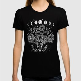 Gothic Snakes And Crystals Moon Phases T-shirt