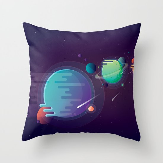 Alien Planets Throw Pillow