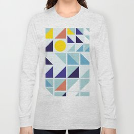 Sunny Geometric Regatta #pattern Long Sleeve T-shirt
