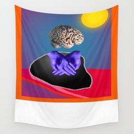 cerveau en surbrillance Wall Tapestry