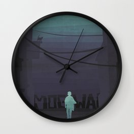 Night walk with Mogwai Wall Clock