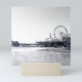 Frosted Santa Monica Pier Mini Art Print