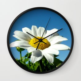 Blue Sky Daisy Wall Clock