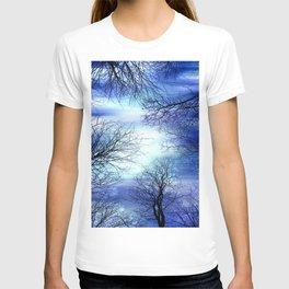 Midnight Trees Deep Blue Indigo T-shirt