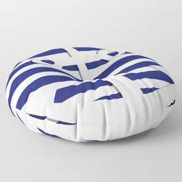 Hipster Sailing Floor Pillow