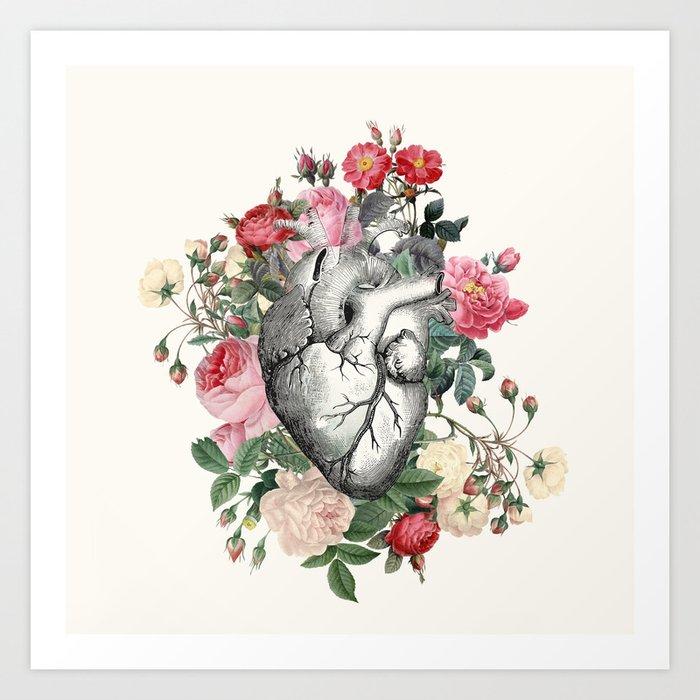 Roses for her Heart Art Print