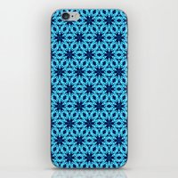 knitting iPhone & iPod Skins featuring blue Knitting by clemm
