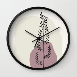 Natural Line Art - Tall Tree In A Vase Wall Clock