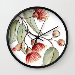 Flowering Australian Gum Wall Clock