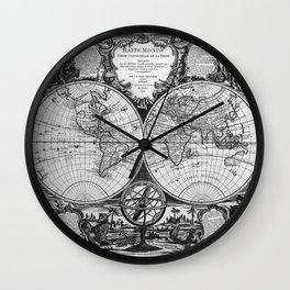 Vintage Old Map Design Wall Clock