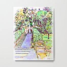 Tivoli: driveway in the garden of Villa d'Este Metal Print