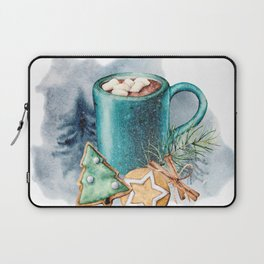 Cocoa with cookies and marshmallow Laptop Sleeve
