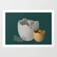 eggs Art Prints featuring Eggs by LoRo  Art & Pictures