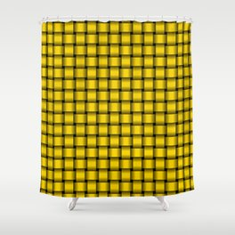 Small Gold Yellow Weave Shower Curtain