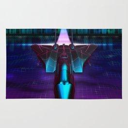 Neon Flight on Titan Rug