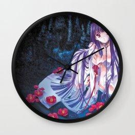 Pretty Hentai Girl Begging On Knees Ultra HD Wall Clock
