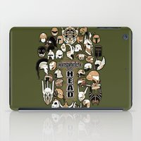 fandom iPad Cases featuring Helmets of fandom - respect the head! by CaptainLaserBeam