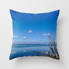 A landscape of the Harvey estuary south of Mandurah, Western Australia Throw Pillow