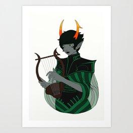 Dolorosa with Lyre Art Print