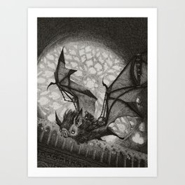 The Bat Rider  Art Print