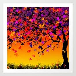 The Scent Of Halloween Autumn Tree Art Print