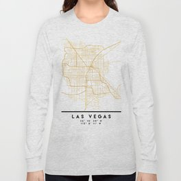 LAS VEGAS NEVADA CITY STREET MAP ART Long Sleeve T-shirt