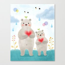 warm heart Canvas Print