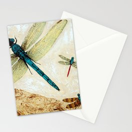 Zen Flight - Dragonfly Art By Sharon Cummings Stationery Cards