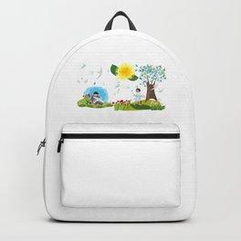 Children enjoying summer Backpack