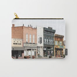 Vintage American Town Photo Print | Streets Of Panguitch Utah Photo Art | Color Travel Photography Carry-All Pouch