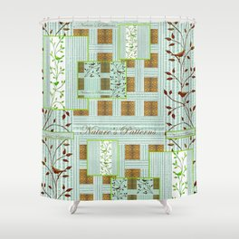 Nature's Patterns Series: Titled Pattern Shower Curtain
