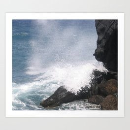 Rocks and Sea Tenerife Art Print